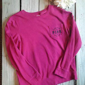Pink hot pink light weight sweatshirt